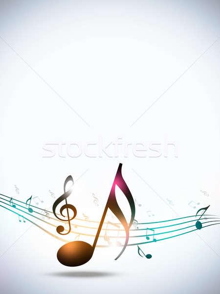 Foto stock: Notas · musicales · blanco · resumen · funky · fiesta · música