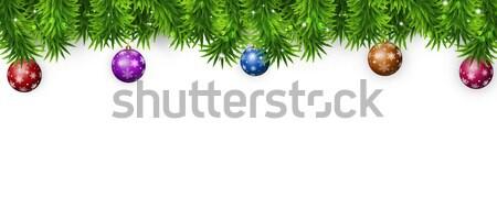Рождества баннер зима ярко дерево праздник Сток-фото © alexaldo