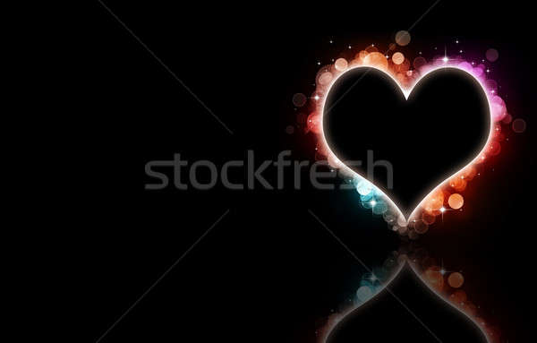 Bokeh сердце аннотация черный любви праздник Сток-фото © alexaldo