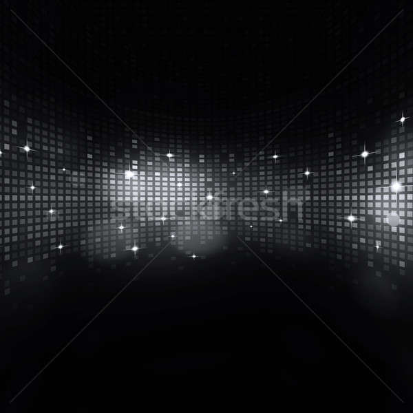 Zene feketefehér absztrakt hangszínszabályozó digitális sötét Stock fotó © alexaldo