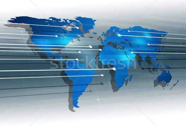 Digital Global Communications  Stock photo © alexaldo