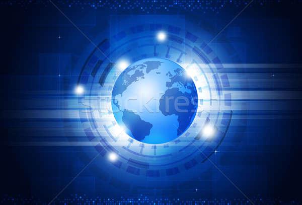 Tecnologia digitale mondo tecnologia digitale business informazioni Foto d'archivio © alexaldo