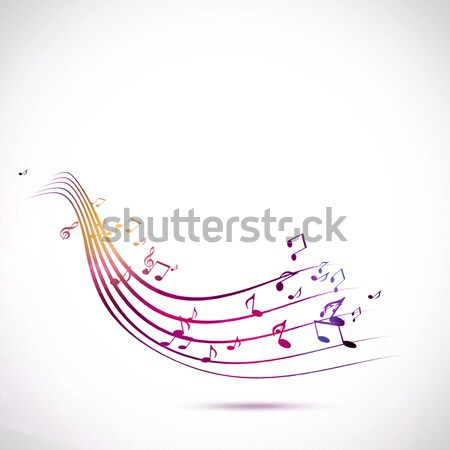 Foto stock: Brillante · notas · musicales · fiesta · folletos · club · nocturno · carteles