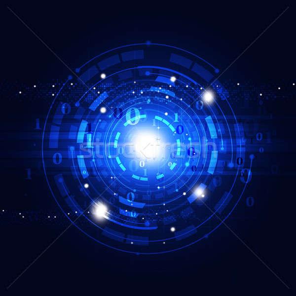 аннотация связи технологий глобальный синий бизнеса Сток-фото © alexaldo