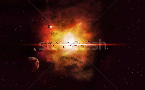 Deep Space Imaginary Nebula Stock photo © alexaldo