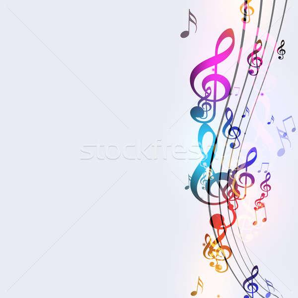 Foto stock: Funky · notas · musicales · resumen · brillante · fiesta · danza