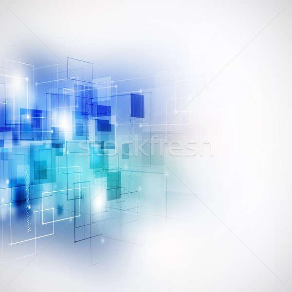 аннотация бизнеса синий технологий связи свет Сток-фото © alexaldo