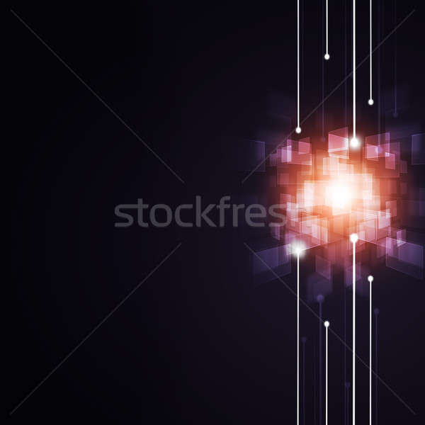 Digitális kapcsolatok technológia absztrakt internet háttér Stock fotó © alexaldo