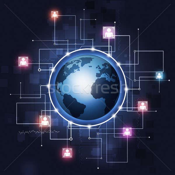 Global Communication Technology Background Stock photo © alexaldo