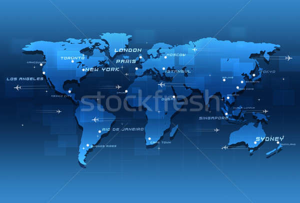 World Aviation Destinations Stock photo © alexaldo