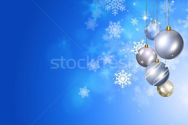 Winter Christmas Balls Stock photo © alexaldo