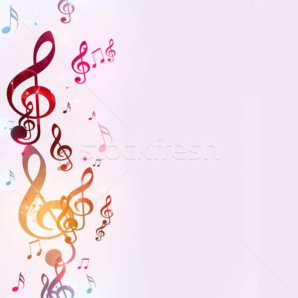Foto stock: Brillante · notas · musicales · resumen · música · danza · luz