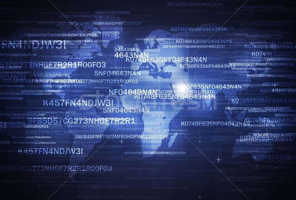 Sicurezza codifica digitale business internet tecnologia Foto d'archivio © alexaldo