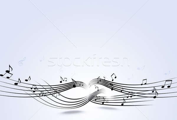 Notas musicales resumen luces brillante fiesta Foto stock © alexaldo