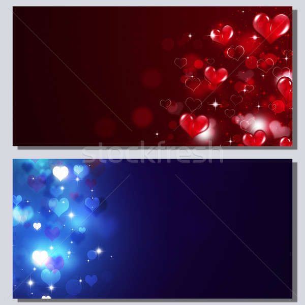 Stock photo: Abstract Valentine Banners