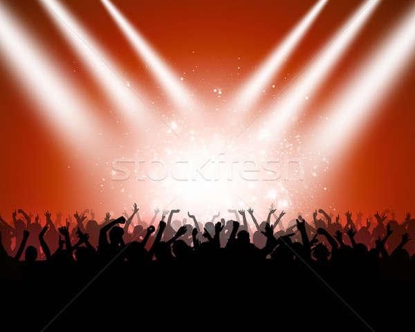 Clubbing renkli müzik dans insanlar gece kulübü Stok fotoğraf © alexaldo
