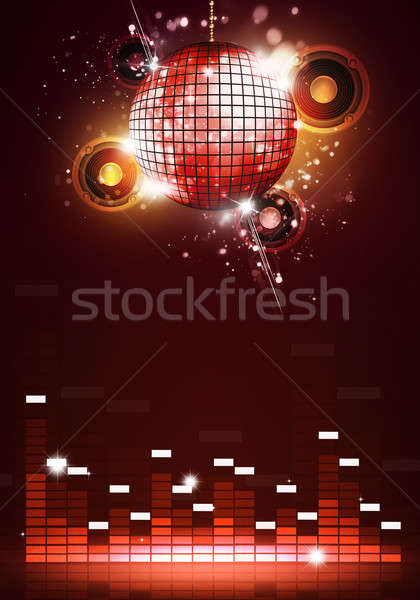 Disco Party Music Background Stock photo © alexaldo