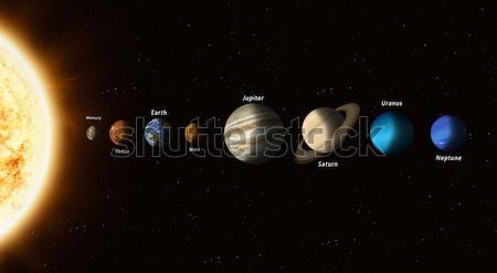Planets Of Solar System Stock photo © alexaldo