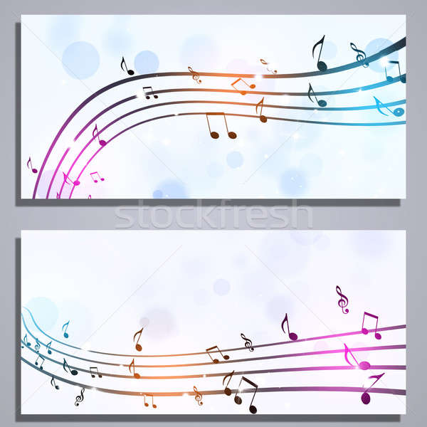 Music Notes Banners Stock photo © alexaldo