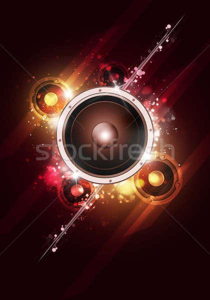 Fényes buli zene szórólapok éjszakai klub plakátok Stock fotó © alexaldo