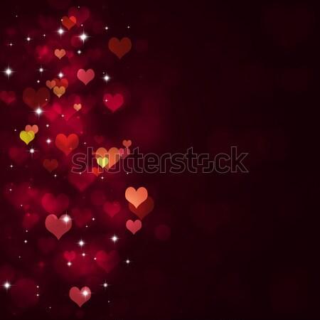 Valentin nap absztrakt piros szívek szerelmespár nap Stock fotó © alexaldo