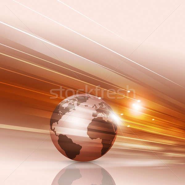 Absztrakt bemozdult piros grafikus üzlet földgömb Stock fotó © alexaldo