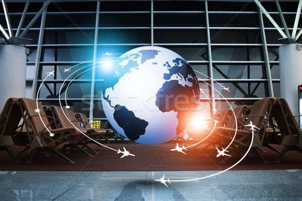 Aviación negocios global viaje mixto Foto stock © alexaldo