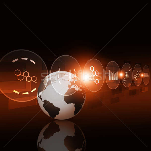 デジタル技術 インターフェース 抽象的な デジタル インターネット 技術 ストックフォト © alexaldo