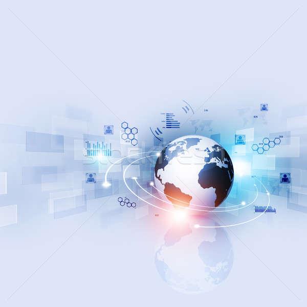аннотация технологий интерфейс цифровой интернет синий Сток-фото © alexaldo