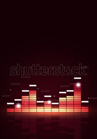 Feketefehér zene hangszínszabályozó poszter örömteli buli Stock fotó © alexaldo
