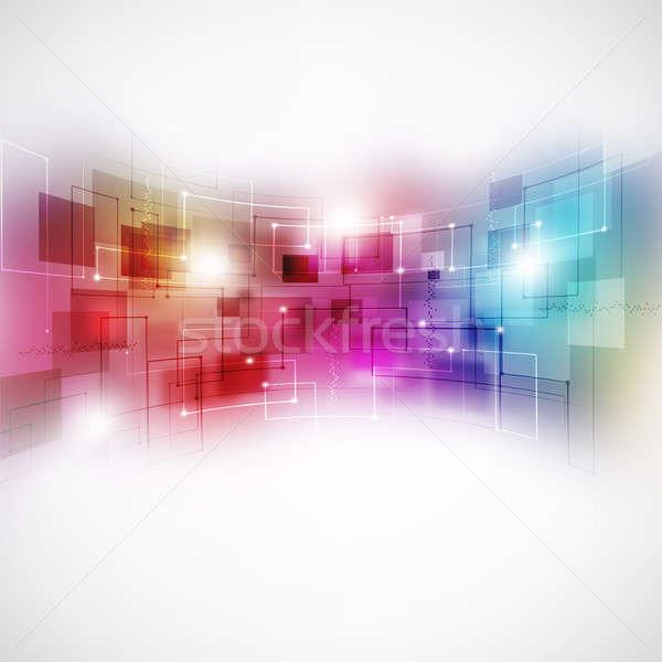 Absztrakt mozgás üzlet technológia távközlés fény Stock fotó © alexaldo