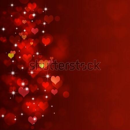 Cuore romance rosso amanti giorno party Foto d'archivio © alexaldo