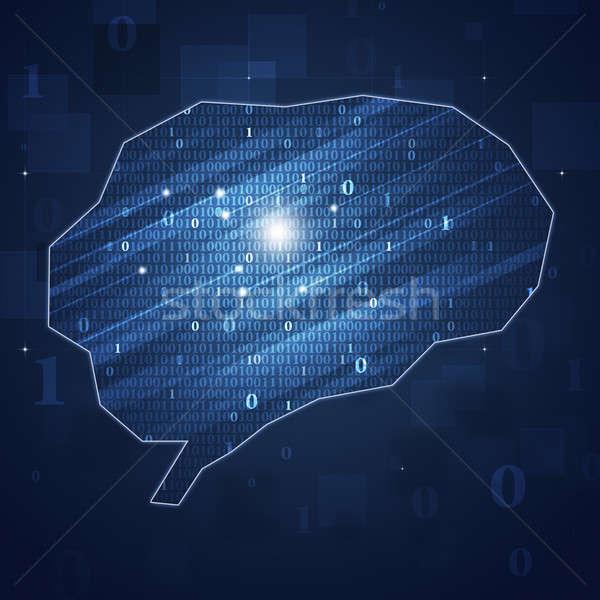 двоичный код мозг аннотация технологий бизнеса интернет Сток-фото © alexaldo