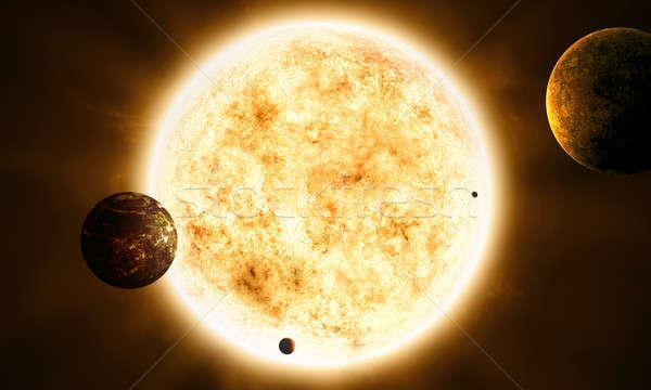 Sistema solar espaço abstrato imaginário ilustração sol Foto stock © alexaldo