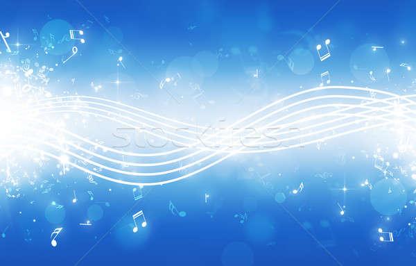 Müzik soyut müzik notaları hatları bokeh Stok fotoğraf © alexaldo