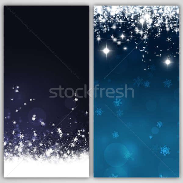 аннотация снега Баннеры зима праздник Рождества Сток-фото © alexaldo