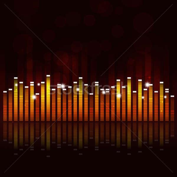 イコライザ 音楽 パーティ 抽象的な イベント ダンス ストックフォト © alexaldo