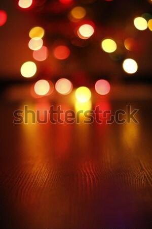 Ahşap un bulanık soyut ışık Stok fotoğraf © alexaldo