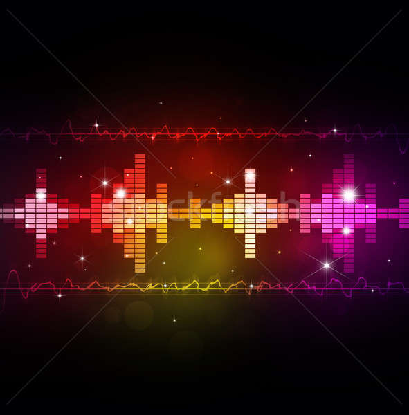 Abstract Music Equalizer Stock photo © alexaldo