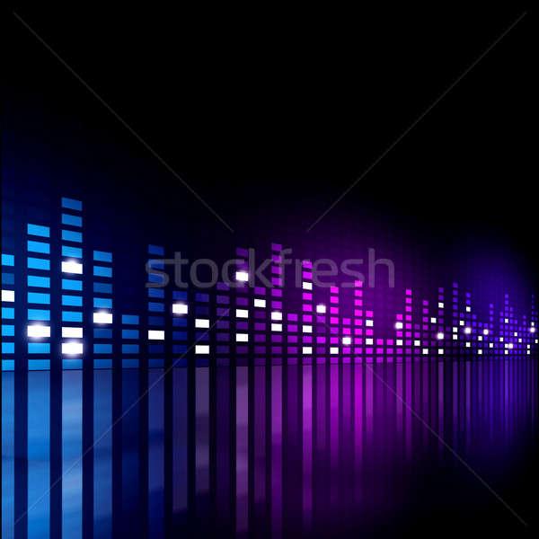 Korektor muzyki aktywny imprez strony streszczenie Zdjęcia stock © alexaldo