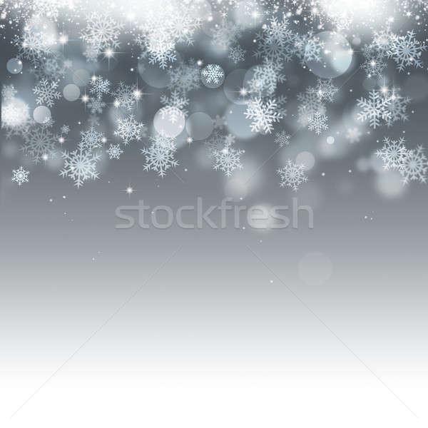 зима снега аннотация ярко праздник Сток-фото © alexaldo