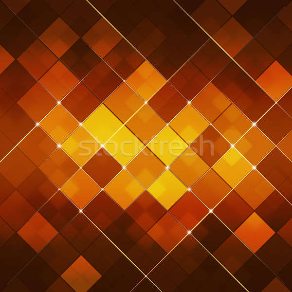 Red Abstract Square Dot Tech Background Stock photo © alexaldo