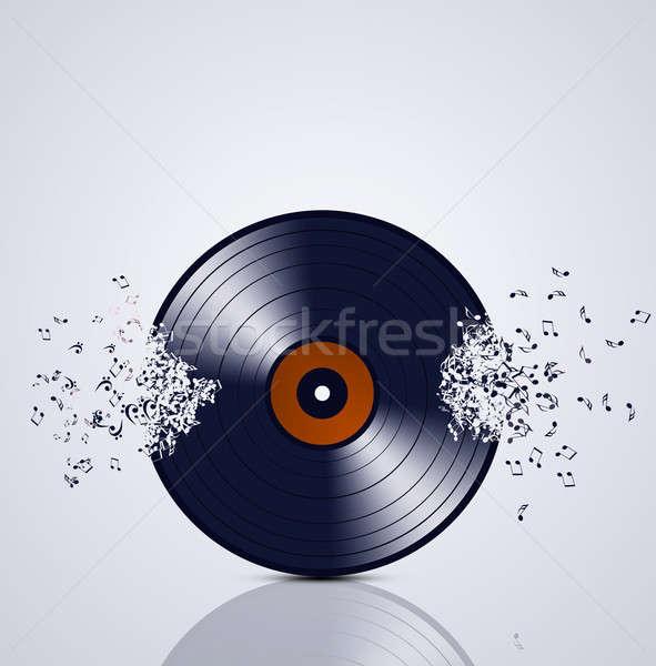 Vinyl muziek abstract muziek merkt dans Stockfoto © alexaldo