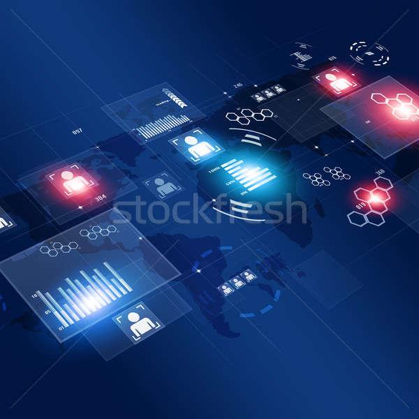 コンピュータ 技術 インターフェース グローバル ウェブ ストックフォト © alexaldo