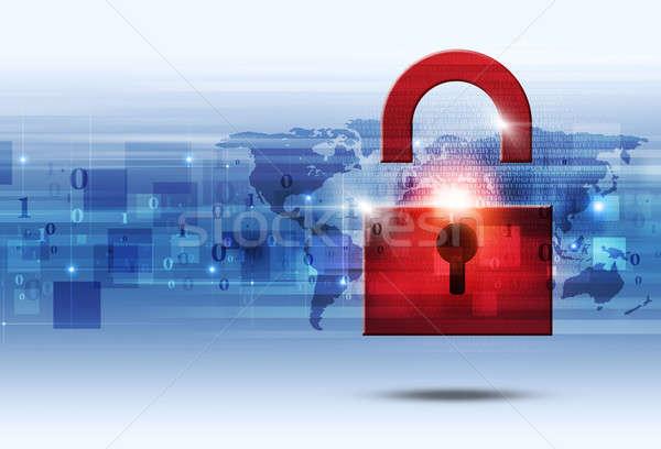 Bináris kód védelem absztrakt technológia kommunikáció világ Stock fotó © alexaldo