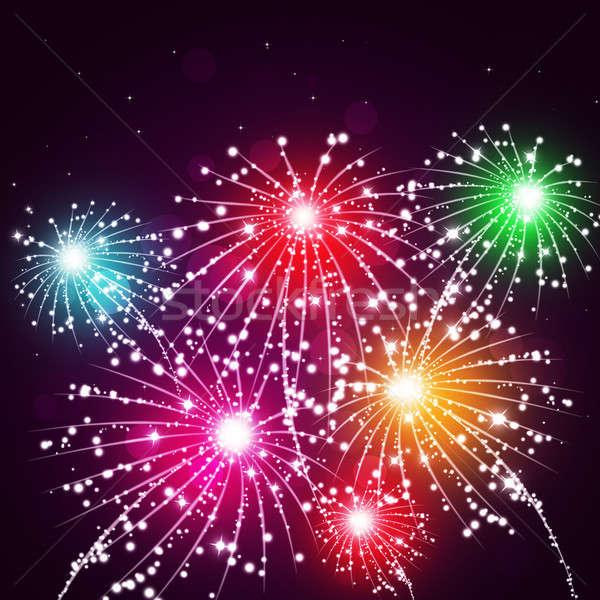 Multicolor Fireworks Stock photo © alexaldo