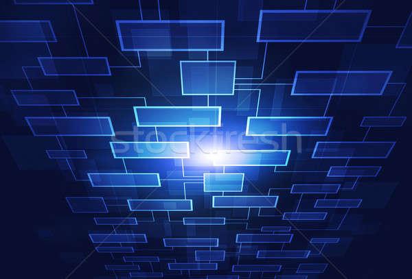 ビジネス 抽象的な フローチャート 通信 青 ウェブ ストックフォト © alexaldo