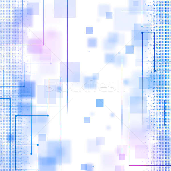 Abstract Blue Business Technology Background Stock photo © alexaldo