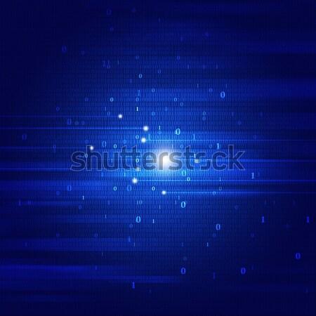 Square Shapes Blue Background Stock photo © alexaldo