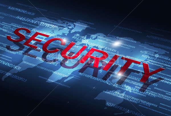 Digitális biztonság kódolás üzlet internet technológia Stock fotó © alexaldo